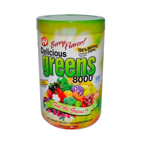 Greens World Delicious Greens 8000 Berry -- 10.6 oz (Super Greens 8000 compare prices)
