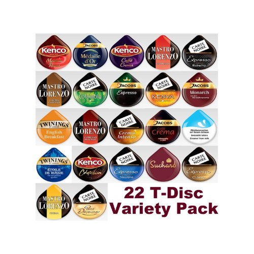 Purchase 22 Tassimo T Discs Pods Variety Pack from Tassimo