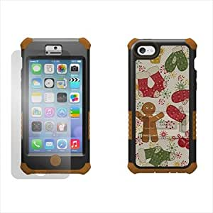 Beyond Cell Tri-Shield Durable Hybrid Hard Shell and Silicone Gel Case for iPhone 5C - Gingerbread - Retail Packaging - Black/Brown