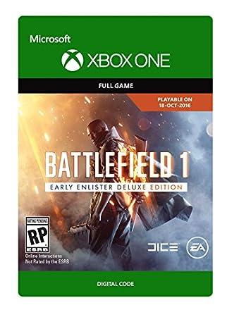 Battlefield 1: Earlier Enlister Deluxe Edition - Pre-Load - Xbox One Digital Code