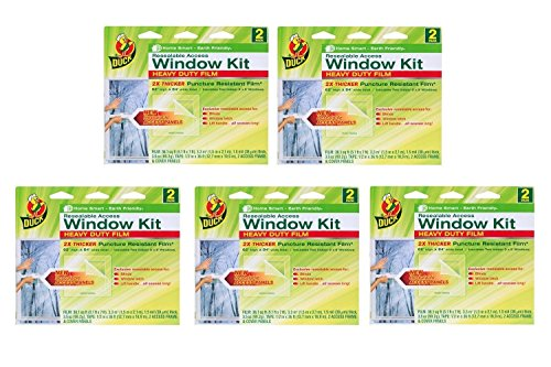 Duck Brand Shrink Film Window Access Kit, 2 count (Pack of 5) (Windows Access compare prices)