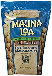 Mauna Loa Macadamias, Dry Roasted with Sea Salt, 11-Ounce