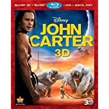 John Carter (Four-Disc Combo: Blu-ray 3D/Blu-ray/DVD + Digital Copy) ~ Taylor Kitsch
