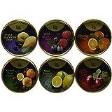 Cavendish & Harvey Hard Candy Drops Variety Pack - 6 Flavors, 5.3 oz Tins