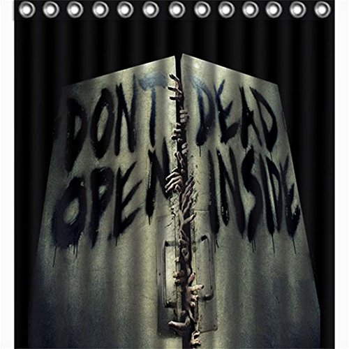 Walking Dead Don't Open Shower Curtain