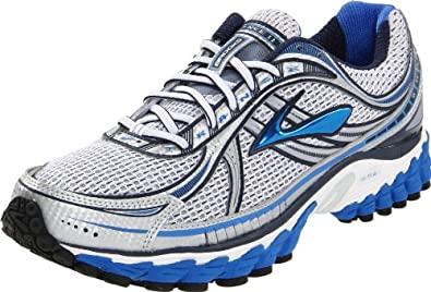 Brooks Men's Trance 11 Running Shoe,Passat Grey/Strong Blue/Obsidian/White/Metallic,8 D US