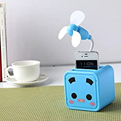 GeekGoodies Multi - Functional USB Box Folding Fan With Desk Pen Holder (Blue)
