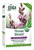 Gaia Herbs Throat Shield Herbal Tea Bags, 20 Count