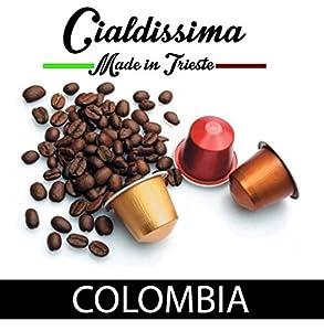 cialdissima 100 CAPSULAS DE CAFÉ COMPATIBLES NESPRESSO. ESPRESSO ITALIANO! Colombia Calidad. FABRICADO EN ITALY. En colaboración con TRIESTECAFFÈ! por cialdissima
