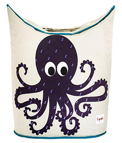 Learn More About 3 Sprouts Laundry Hamper, Octopus, Purple