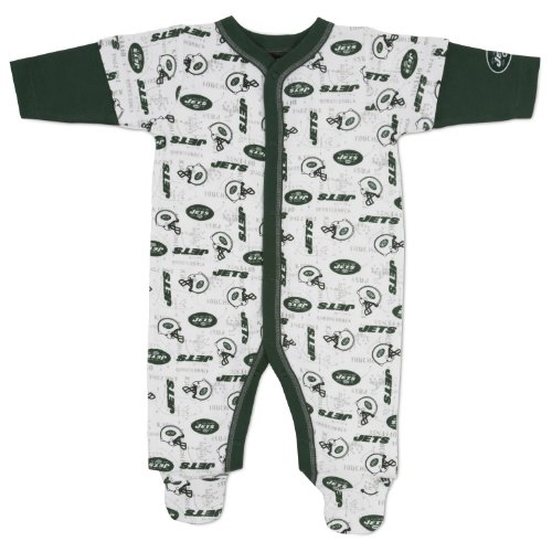 NFL New York Jets Sleep-N-Play Infant Bodysuit, 3-6 Months at Amazon.com