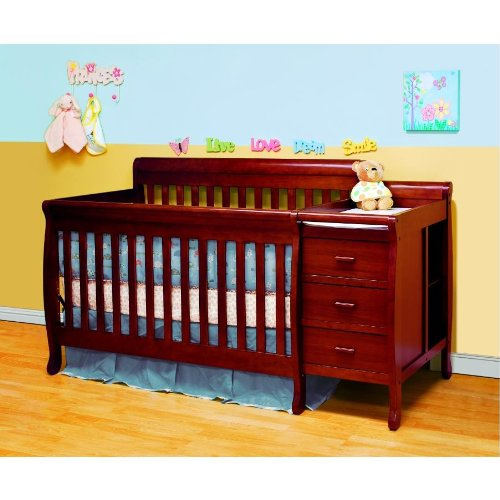 Baby Mile Eve Convertible Crib And Changer - Cherry front-159053