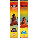 Meera Gruh Udyog Wax Candle Set (2 Cm X 2 Cm X 21 Cm, White, Pack Of 2)