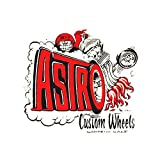 Astro Custom Wheels Vintage Drag Race Hot Rod Decal Bumper Sticker