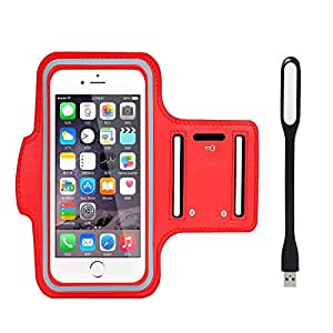 New Hot (4.7) Arm Band Workout Cover Sport Gym Case For Celkon A225 With USB Led Light