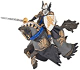 Dragon Black Prince & Horse - Hand Painted Figure - 25x8x14.5cm - Papo