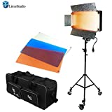 LimoStudio Photo Video Studio 500 LED Barn Door Continuous Lighting Panel Kit, Dimmable 500 LED Photo Video Barndoor Light, AGG1286