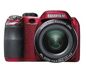 Fujifilm FinePix S4500 Digital Camera - Red (14MP, 30x Optical Zoom) 3 inch LCD Screen