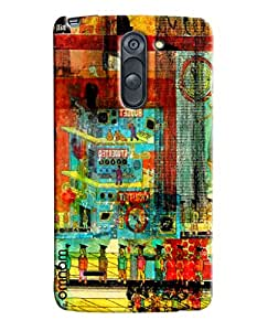 Omnam Factory Printed Cartoon Confusing Designer Back Cover Case for LG G3 Stylus