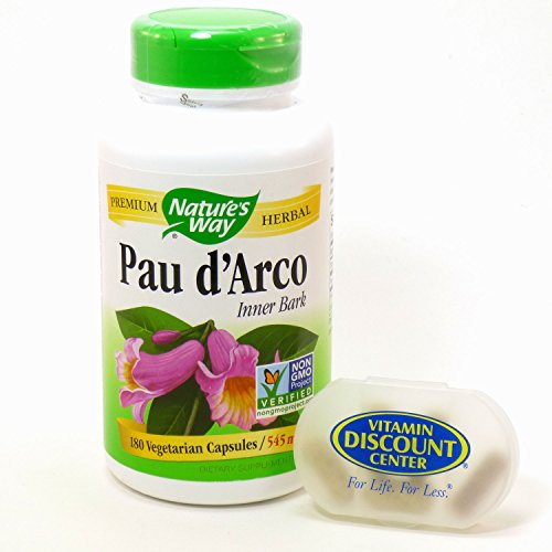 Bundle - 2 Items: 1 Bottle of Pau d'Arco Inner Bark 545 mg by Nature's Way 180 Capsules and 1 VDC Pill Box (D S ++@+ 1 compare prices)