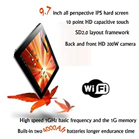 CUBE U9gt2 8g 9.7 Inch Capacitive Touch Screen Android 4.0 Hd Camera Tablet