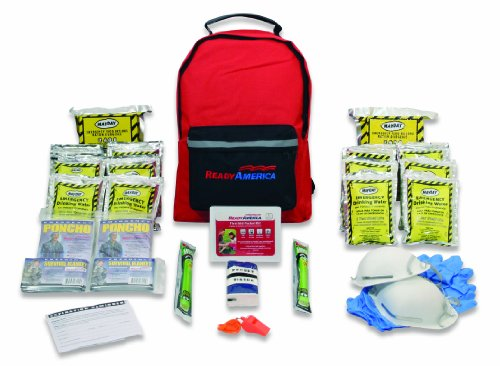 Ready America 70280 Grab-'n-Go Emergency Kit, 2-Person, 3-Day Backpack