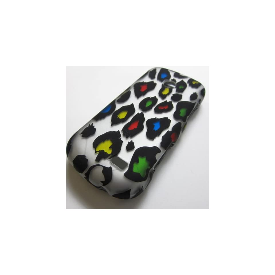 Rubberized Hard Phone Case Cover Skins Snap on Faceplate Protector for Samsung Sgh t528g Straight Talk Net10 Tracfone  / Leopard Cheetah Print Colorful(wholesale Price)