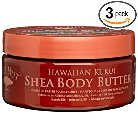 Tree Hut Shea Body Butter, Hawaiian Kukui, 7-Ounce Jars (Pack of 3)