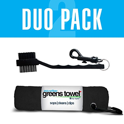Greens Towel Duo Pack (Jet Black)
