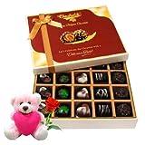 Lip Smacking Chocolates Box With Teddy And Rose - Chocholik Belgium Chocolates