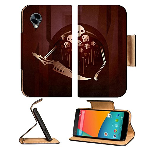 Dark Souls Nito Skulls Skeleton Google Nexus 5 Hammerhead Lg Flip Case Stand Magnetic Cover Open Ports Customized Made To Order Support Ready Premium Deluxe Pu Leather 5 11/16 Inch (145Mm) X 2 15/16 Inch (75Mm) X 9/16 Inch (14Mm) Msd Nexus Cover Professio