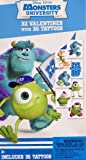 Disney Pixar Monsters University Valentines with Tattoos !