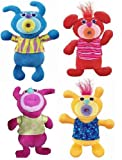 Sing a Ma Jig Set of 4 Deluxe Singing Plush Figures Blue, Red, Hot Pink, and New Yellow