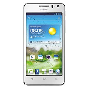 Huawei Ascend G 615 Smartphone (11,4 cm (4,5 Zoll) Touchscreen, 8 Megapixel Kamera, 8 GB Interner Speicher, Android 4.0) weiß