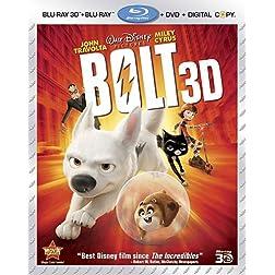 Bolt (Four-Disc Combo: Blu-ray 3D/Blu-ray/DVD + Digital Copy)