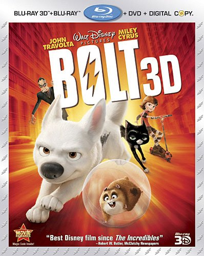 Cover art for  Bolt (Four-Disc Combo: Blu-ray 3D/Blu-ray/DVD + Digital Copy)