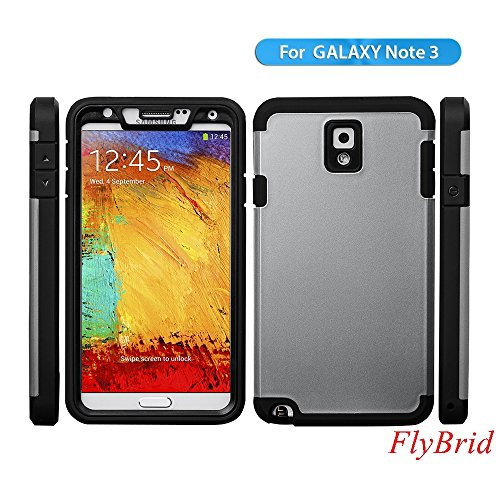 Note 3 Case,Galaxy Note 3 Case,[Shockproof] [Dritproof][Scratch Resistant] Samsung Galaxy Note 3 Protective Case**NEW**Premium TPU+PC Hybrid Armor Hard Case for Samsung Galaxy Note 3(Gray) (Note 3 Case Spigen compare prices)