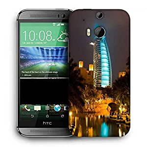 Snoogg Glowing Veiw At Dubai Printed Protective Phone Back Case Cover For HTC One M8