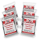 Emergency Thermal Blankets 52″ X 84″, 10xPack