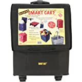 Bigger Smart Cart Black Multipurpose Rolling Collapsible Utility Cart Basket