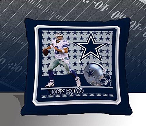 Nfl Biggshots Bedding - Dallas Cowboys Tony Romo Toss Pillow, 18-Inch front-15842