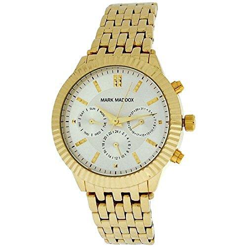 Mark Maddox como se muestra en el brazalete en color dorado y el espaciado de las señoras reloj con correa de MM 0009-27