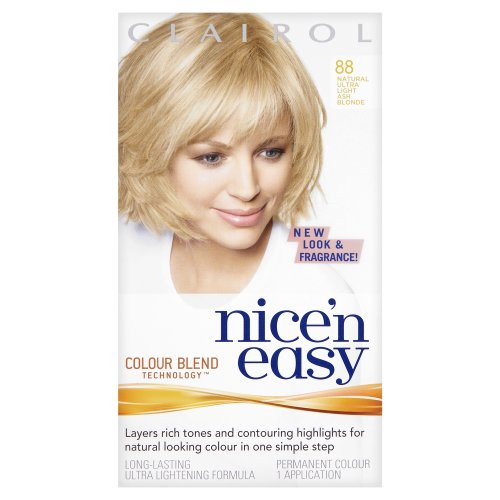 Clairol Nice 'N' Easy Permanent Hair Colour 88 Natural Ultra Light Ash Blonde  (Pack of 2)