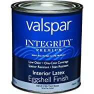 Valspar 004.6012199.005 Integrity Eggshell Latex Interior Wall Paint And Primer In One Paint