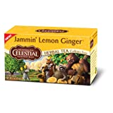 Celestial Seasonings Jammin' Herbal Tea, Lemon Ginger, 20-Count