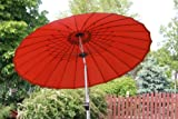 Exclusive 24 rib 9' Wind Resistant Fiberglass Patio Umbrella - Tilt