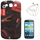 DMG Night Glow Hard Back Cover Case For Samsung Galaxy S3 Neo GT-I9300I (Levis) + White Earphones + Matte Screen...