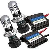 XZONE 極薄安定型 HIDキット H4 スライド式 リレーレス 35W 極輝型バルブ 6000K 交流式 快速点灯 ヘッドライト/フォグランプ対応 3年保証