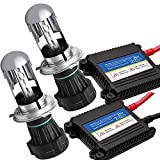 XZONE HIDキット 35W H4 Hi/Lo リレーレス 8000K 極輝型バルブ 交流式 極薄安定型 快速点灯 ヘッドライト/フォグランプ対応 3年保証