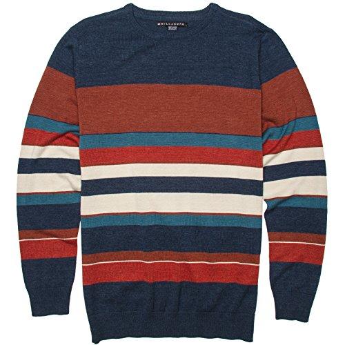 Billabong Little Boys' Kids Swoop Crew Neck Sweater, Indigo, 5 front-927542